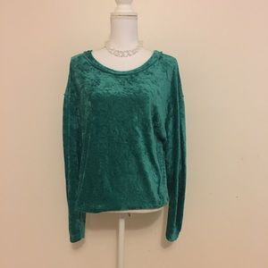 Free People We the Free Crushed Velvet Blouse sz S